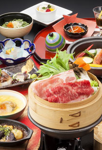 錦コースの料理例